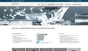 Webseite erstellt für ADFB GmbH