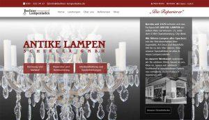 Webseite erstellt für Antike Lampen Scherler GmbH