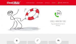 Webseite erstellt für Clean-Rohr GmbH