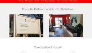 Webseite erstellt für Kieferorthopädie Dr. Galen