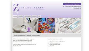 Webseite erstellt für Zahnarztpraxis Hackmann