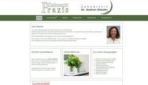 Webseite erstellt für Zahnarztpraxis Kössler