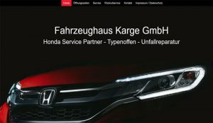 Webseite erstellt für Fahrzeughaus Karge GmbH