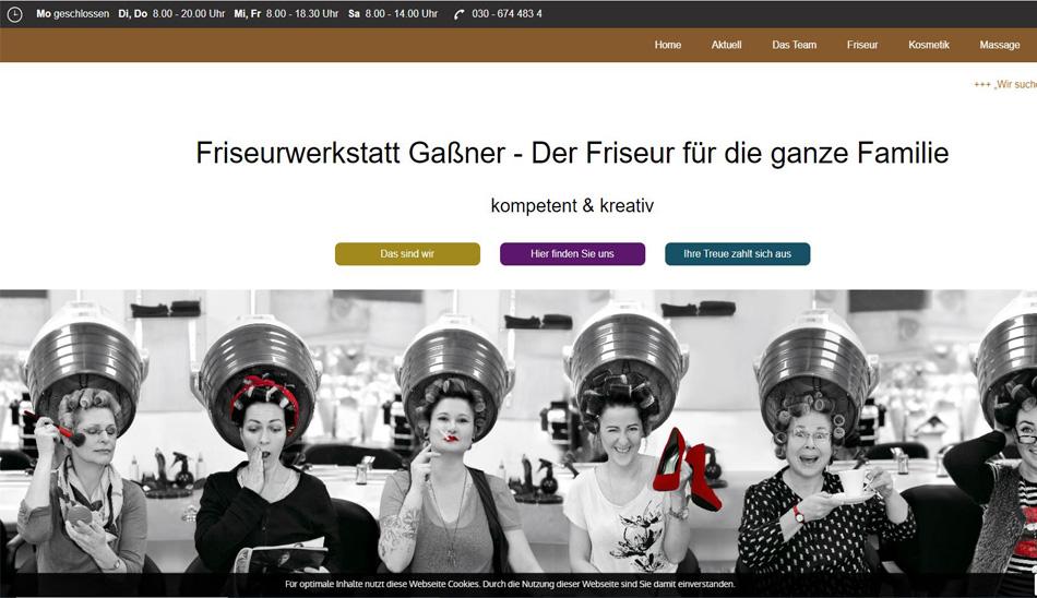 Webseite erstellt für Friseurwerkstatt Gaßner