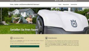 Webseite erstellt für Gartentechnik Fabisch