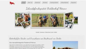 Webseite erstellt für Islanspferdehof Hönow