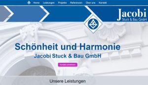 Webseite erstellt für Jacobi Stuck & Bau GmbH