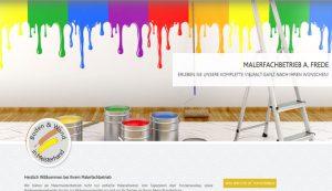 Webseite erstellt für Malerfachbetrieb Frede