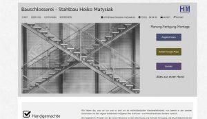 Homepage erstellt für Bauschlosserei Matysiak