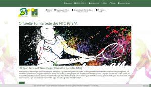 Homepage erstellt für NTC 93 - Turnierseite