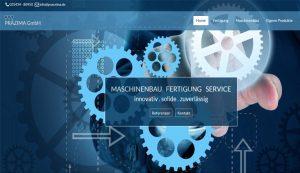 Homepage erstellt für Präzima GmbH