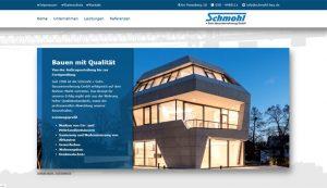 Homepage erstellt für Schmohl und Sohn Bauunternehmumg GmbH