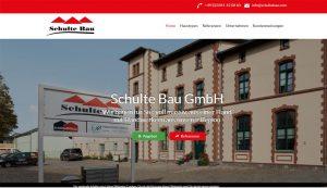 Webseite erstellt für Schulte Bau