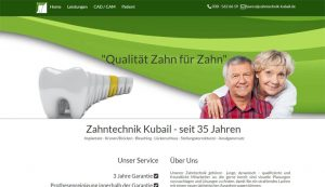 Homepage erstellt für Zahntechnik Kubail