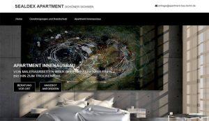 Webseite Sealdex Appartment