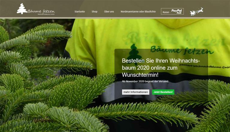 Online-Shop fuer Weihnachtsbäume