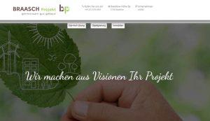 Homepage erstellt für Braasch Projekt